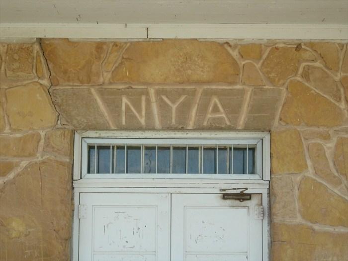Pauls-Valley-Community-Center-NYA-Inscription