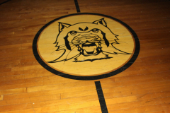 Logo on Gym Floor